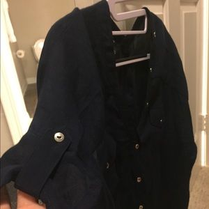 Alfani Tops - Alfani button down front and back blouse